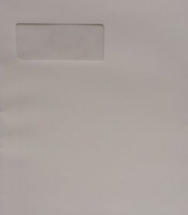 C4/A4 WHITE ENVELOPES WITH WINDOW PEEL & SEAL STRAIGHT FLAP 120GSM